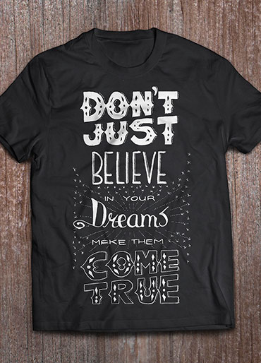 T-shirt design – dreams